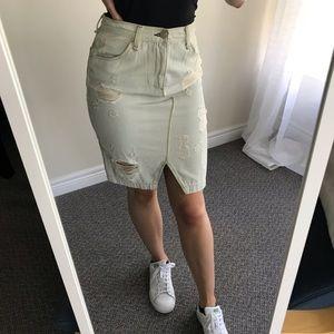 Rag & Bone | denim midi skirt